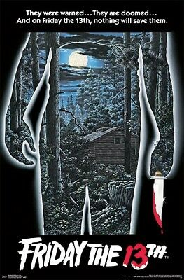 FRIDAY THE 13TH - ONE SHEET MOVIE POSTER - 22x34 CLASSIC HORROR 16587