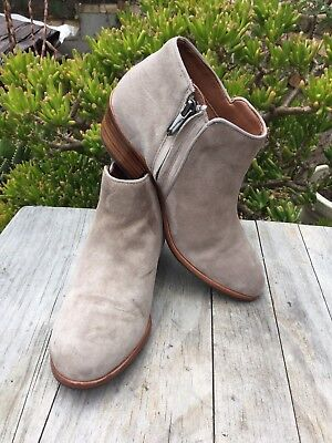 9fa29d972  140 SAM EDELMAN Petty Ankle Boots Putty Suede Women Size 5 M US ...