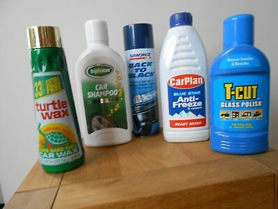 Selection Of 5 Car Care Products (New Old Stock)