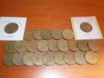 Mixed Lot of Circulated Coins from England    Three Pence Coins