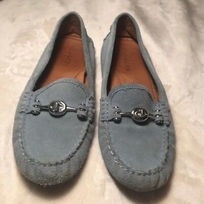 f23de555cc9 Aquatalia Women Sawyer Penny Loafer  Size 8.5  Denim ▫ .