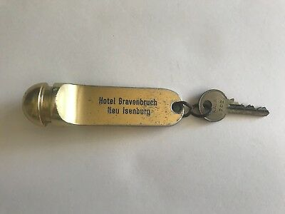 German Large Brass Key Holder and Key