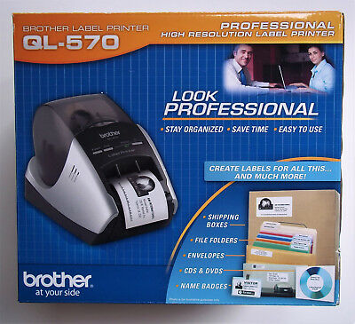 Brother QL-570 Label Printer, Complete Package- New In The Box!