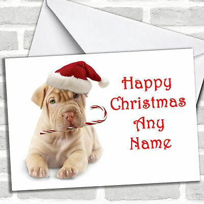 Stunning Dog Personalized Christmas Card