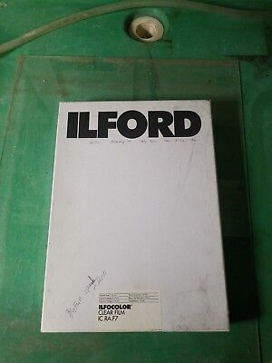 """Ilfocolor Clear Film 8.5""""x11"""" 100 Sheets f/ RA-4 Color Photos 3/4 Full Opened Bx"""