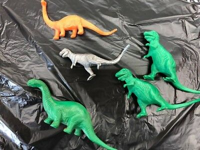 Sinclair Dinosaurs and others 1960's era Brontosaurus & Two T-Rex plus two more!