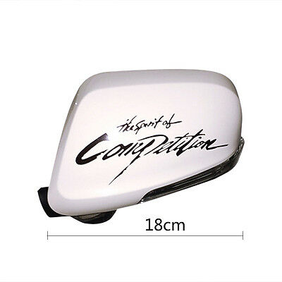 1Pair Vinyl The Spirit Of Competition Rear View Mirror Car Sticker Decal Emblem