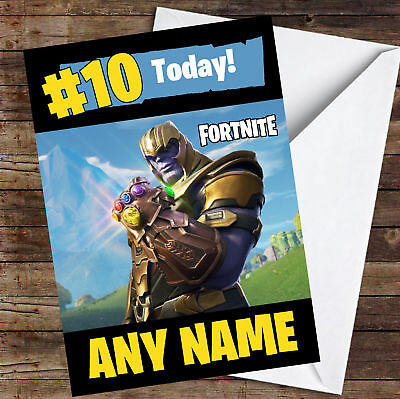 Fortnite Thanos Personalised Childrens Birthday Card 349