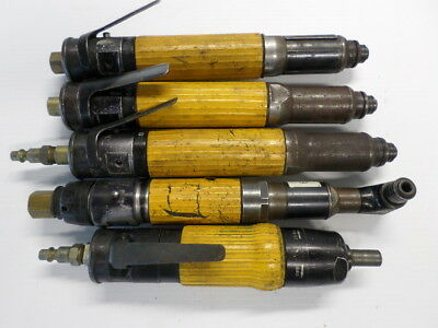 Lot of 5 Atlas Copco Pneumatic Drivers Nut Runners Angle Driver