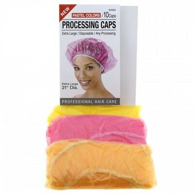 Annie 10 Pcs Processing/conditioning/shower Caps Extra Large Assorted #3584