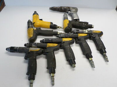 Lot of 9 Atlas Copco Pneumatic Pistol Grip Drill Aircraft Tool LUM