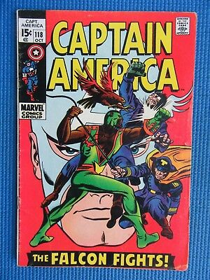 Captain America # 118 - (Fn-) - 2Nd Appearance Of The Falcon
