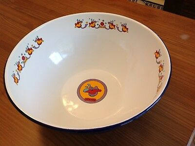 Peter Max Big Enamel Bowl with Decals, Late 60's - Early 70's