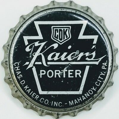 CHAS D. KAIER'S PORTER PA TAX Beer Bottle Caps Crown USED CORK Cap