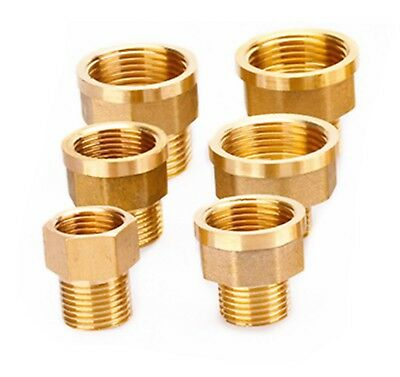 "1/8"" 1/4 3/8"" 1/2"" Female Male BSP Coupler Brass Connector Fitting Adapter Union"