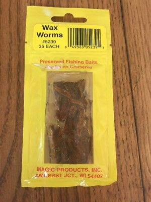 NEW Magic Preserved Wax Worms Red 35ct.5239R