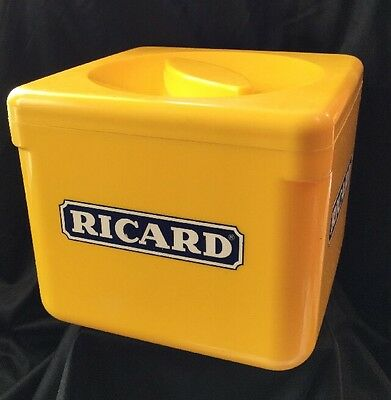 Vintage Retro Collectable Yellow Ricard French Bar ware Ice Bucket