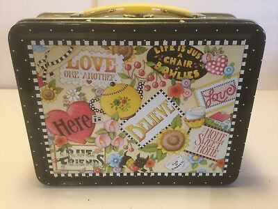 MARY ENGELBREIT COLLAGE TIN LUNCHBOX Love Believe Home Sweet Home True Friends