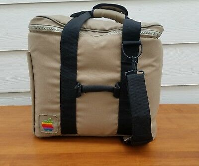 Apple Mac Macintosh Soft Computer Bag Case Carry On VTG Retro Travel 80s Rainbow