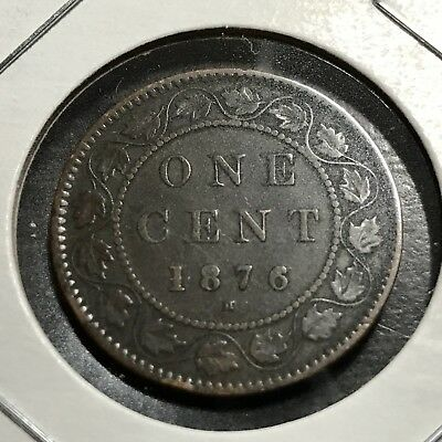1876-H Canada One Penny Higher Grade