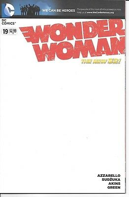 DC Comics New 52 WONDER WOMAN #19 first printing blank cover