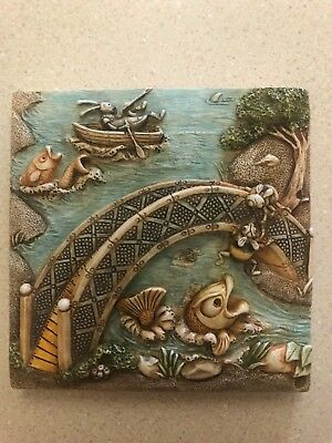 Picturesque Byron's Secret Garden Bumble's Bridge Tile New