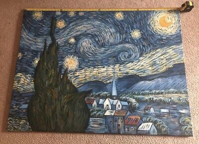 Starry Night By Van Gogh Oil Painting On Canvas H 36 And W 48 By Geelong 135 00 Picclick