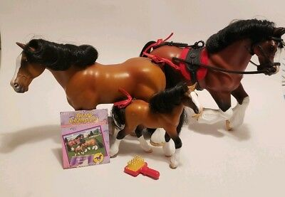 Vintage, Grand Champion, Collectible Toy Horse, Dark Bay Clydesdale Family