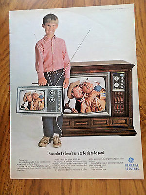 1966 GE General Electric TV Television Ad