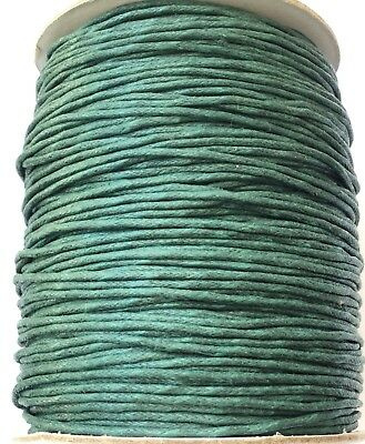 10 Yards Genuine Teal Natural Round Cotton Waxed Cord-Jewelry Supplies