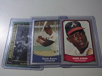Up For Auction 8 Card Lot Hank Aaron Atlanta Braves All Cards are Different