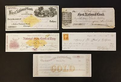 Lot of 5 Different Bank Checks