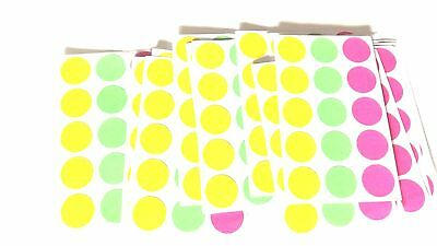 Blank Garage Yard Sale Rummage Stickers 915 Price Labels Neon See My Other Items