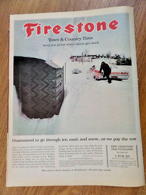 1965 Firestone Town Country Tires Ad  Oldsmobile Pontiac ?