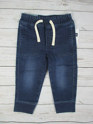 NWT Baby Gap Toddler Boy's Pull On Knit Denim Pants Size 2