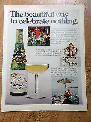 1970 Champale Champagne Ad The beautiful Way to Celebrate Nothing