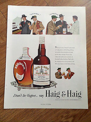 1950 Haig & Haig Whiskey Ad  Don't be Vague