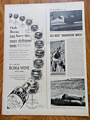 1950 Roma Wines Fresno California Ad