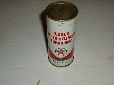 Nos Vintage Texaco Upper Cylinder Oil Lubricant Advertising Can, Red, 1963, 4 Oz