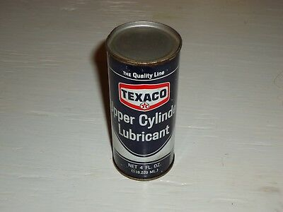 Vintage Texaco Upper Cylinder Oil Lubricant Advertising Can, Blue, 1968, 4 Oz