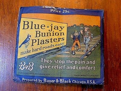 Antique Advertising B&B Bunion Plasters Package Dated 1908