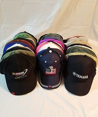Lot of 45 Vintage & New Strapback Snapbacks Hipster Caps Advertising Dad Hats #A