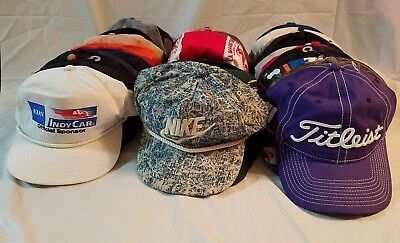 Lot of 45 Vintage & New Strapback Snapbacks Hipster Caps Advertising Dad Hats #B