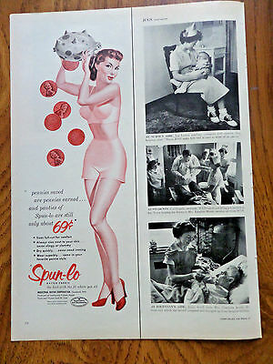1953 Spun-Lo Ad Bra Panties Piggy Bank Pennies Saved Pennies Saved