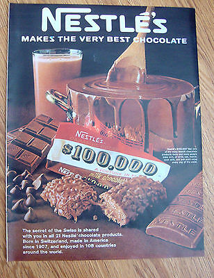 1968 Nestle S Chocolate Candy Bar Ad 21 Nestle Chocolate Products