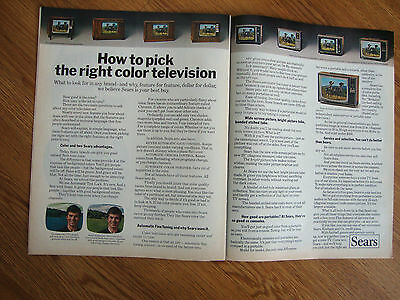 1970 Sears TV Ad How to Pick the Right Color Television