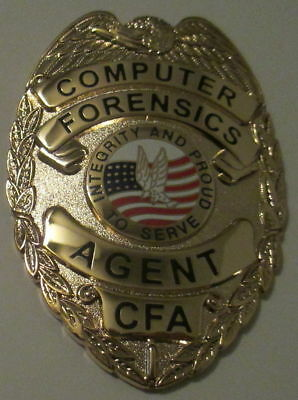 Computer Forensics Agent Badge With Belt Clip