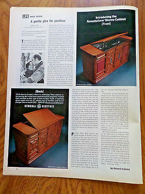 1970 General Electric GE Ad Stero Phonograph   Acoustaform Cabinet