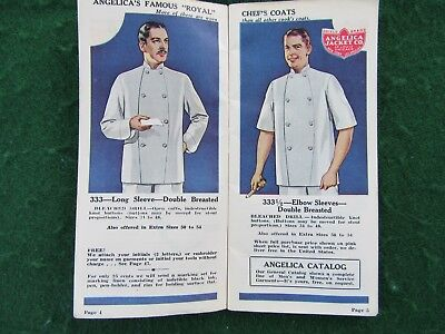 1935 Angelica Chef Uniforms Cooks Linen - Cutlery - Catalog Mailer Advertising
