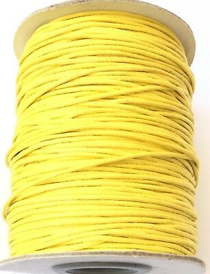10 Yards Genuine Yellow Natural Round Cotton Waxed Cord-Jewelry Supplies
